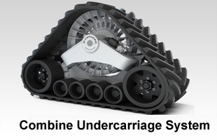 Combine undercarriage systems