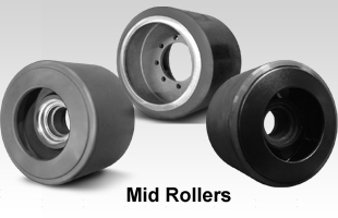 Polyurethane and Rubber Mid rollers