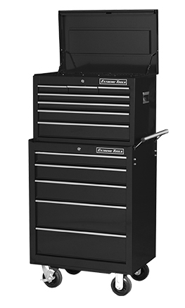 "Extreme Tools® 26"" 7 Drawer Professional Top Chest/5 Drawer Roller Cabinet"