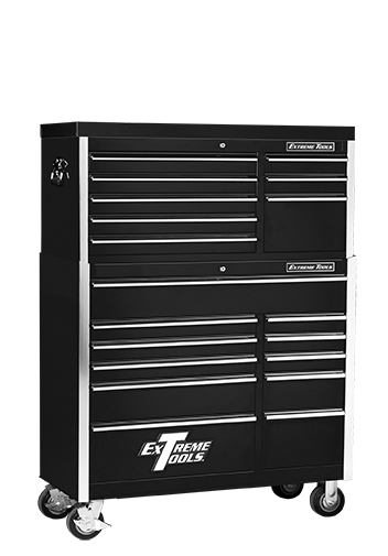 "Extreme Tools® 41"" 8 Drawer Top Chest/11 Drawer Roller Cabinet Combo"