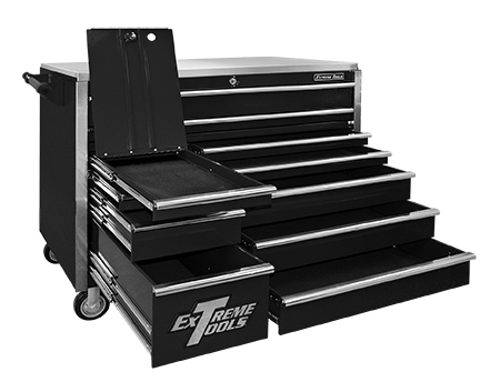 "Extreme Tools® 55"" 11 Drawer Professional Roller Cabinet"