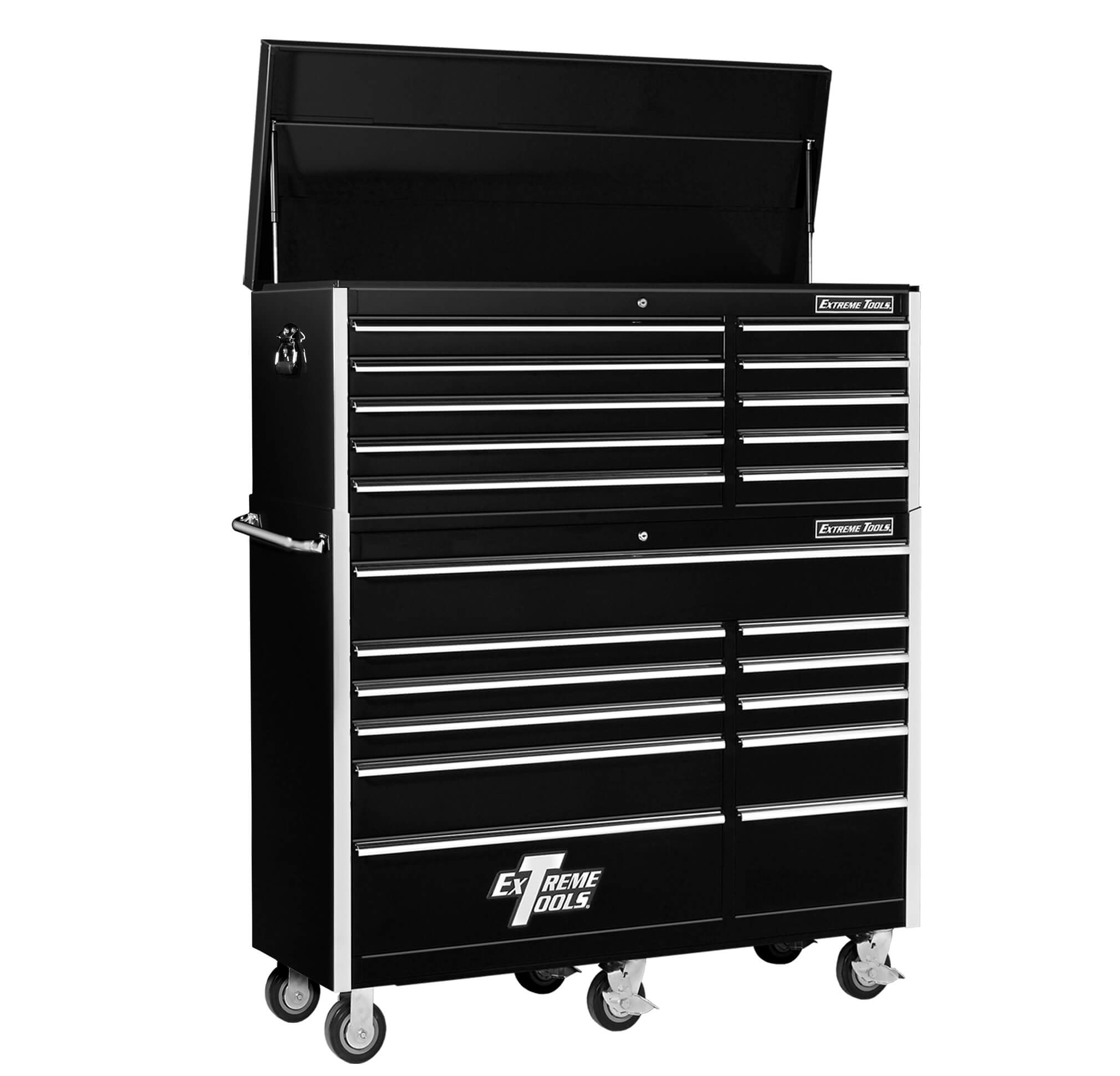 EXTREME TOOLS® 56 inch 10 DRAWER TOP CHEST/11 DRAWER ROLLER CABINET COMBO