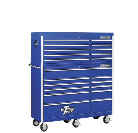 "Extreme Tools® 56"" 10 Drawer Top Chest/11 Drawer Roller Cabinet Combo"