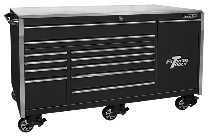 "Extreme Tools ® 76"" 12 Drawer Professional Roller Cabinet"