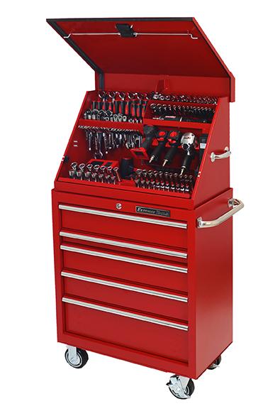 "Extreme Tools® 30"" Extreme Portable Workstation®/5 Drawer Roller Cabinet Combo"