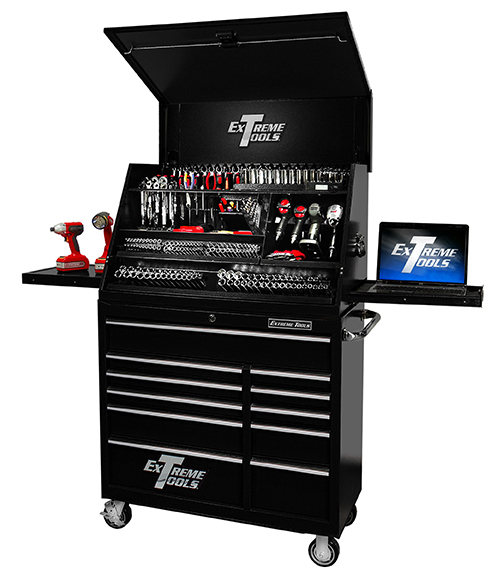 "Extreme Tools® 41"" Deluxe Extreme Portable Workstation®/11 Drawer 24"" Deep Roller Cabinet Combo"