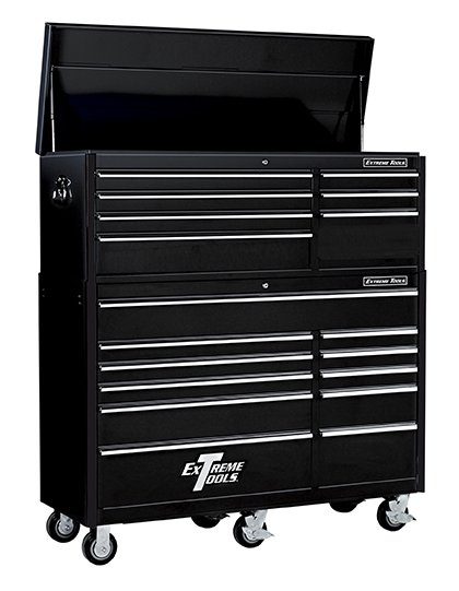 "Extreme Tools® 56"" 7 Drawer Top Chest/11 Drawer Classic Roller Cabinet Combo"