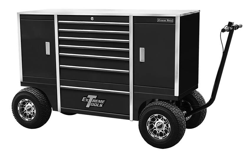 "Extreme Tools® 70"" 7 Drawer / 2 Compartment Pit Box"