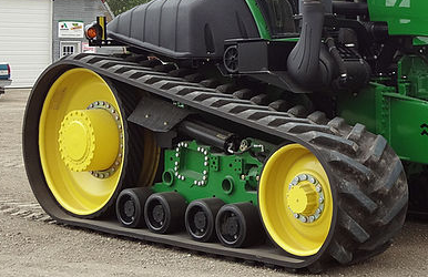 image of track on tractor